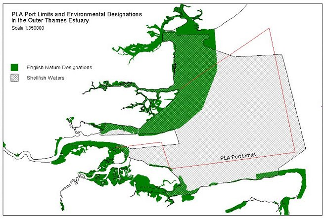 PLA Port Limits and Environmental Designations in the Outer Thames Estuary