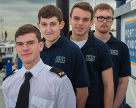 Four Apprentices Start Careers with Port of London Authority