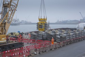 Each 1,200 tonne barge saves the equivalent of 40 lorry journeys