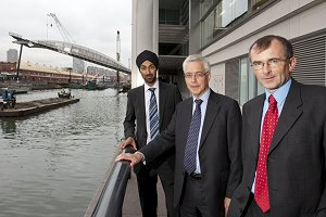 Kulveer Ranger, Transport Adviser to the Mayor of London, Richard Everitt, CEO Port of London Authority and Rob Holden, CEO Crossrail.