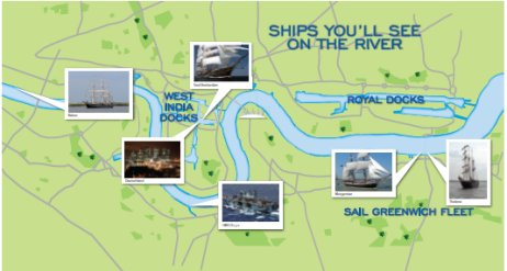 Ships on the river during the Olympics (click on image to enlarge)