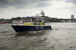 The Marine Police Unit at work on the Thames (click on image to enlarge)