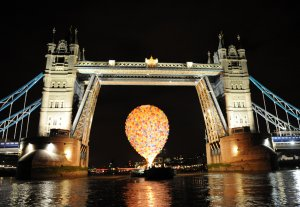 The Disney balloon on the Thames