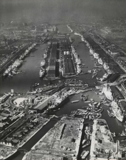 The Royal Docks in 1964