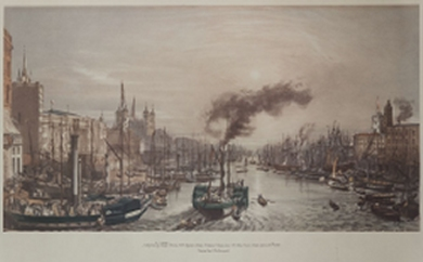 Shipping in the Port of London in 1840 by William Parrott
