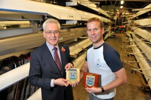 PLA chief executive Richard Everitt with  Stuart Gibbons from Cygnet Rowing Club