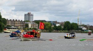 The Royal Flotilla passes through Central London