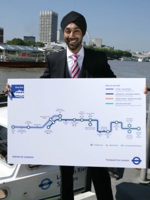 Kulveer Ranger with the new river 'Tube Map'