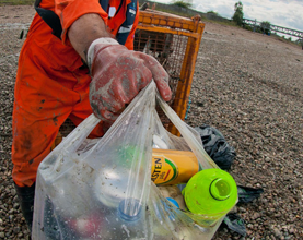 Thames21 Tenth Anniversary Clean-up Event with the PLA at Gravesend