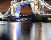 Installation of Paralympics Agitos on Tower Bridge