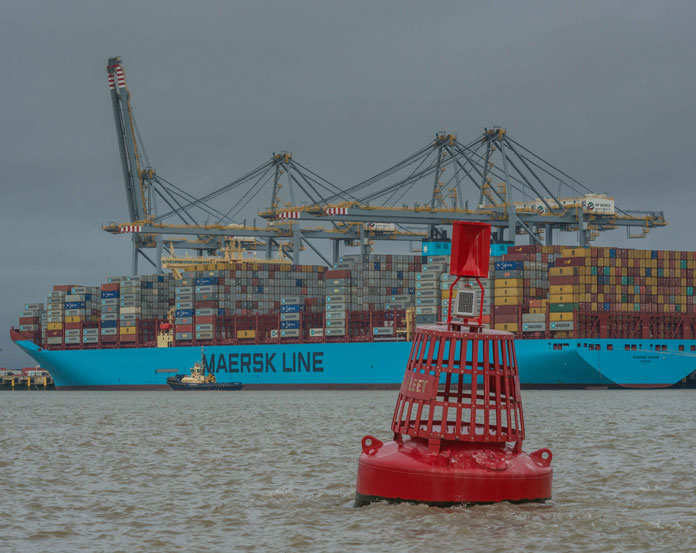 Cargo up at Port of London