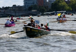 The Great River Race is one of London's most spectacular river events (click on image to enlarge)