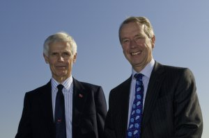 Sir Alan Massey with David Snelson (click on image to enlarge)