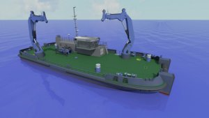 Artist's impression of the new Mooring Maintenance Vessel (click on image to enlarge)