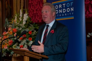 Shipping Minister Mike Penning speaking at the parliamentary reception