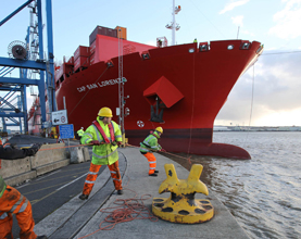 London Container Terminal Handles Largest Ever Container Ship