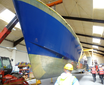 New PLA catamaran reaches hull milestone