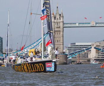 Clipper Ventures race spectacular London start