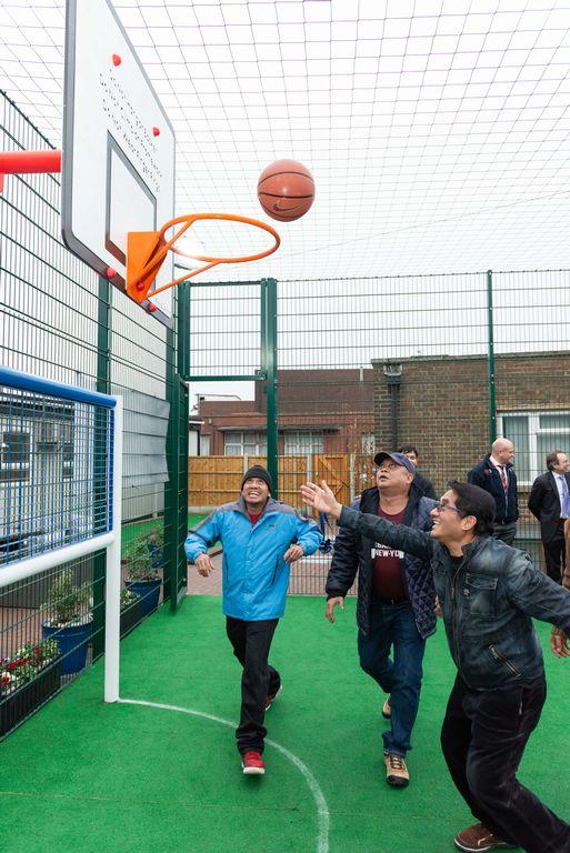 Thurrock MP opens New Tilbury Seafarers Centre basketball court