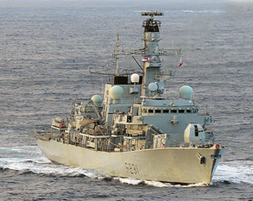London Man Brings His Warship HMS Argyll to Thames