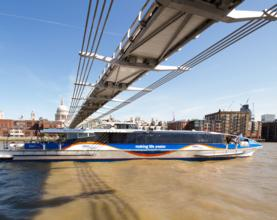 MBNA teams up with Thames Clippers to boost river  service in London