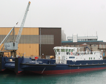 Port of London to unveil its £7m vessel, London Titan, at Seawork International