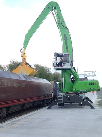 Glass cullet rides the rails from the Port of Tilbury