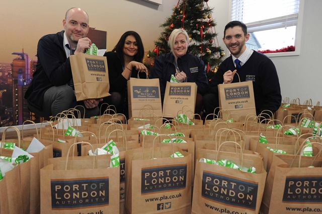PLA lends a Christmas helping hand At Tilbury Seafarers' Centre